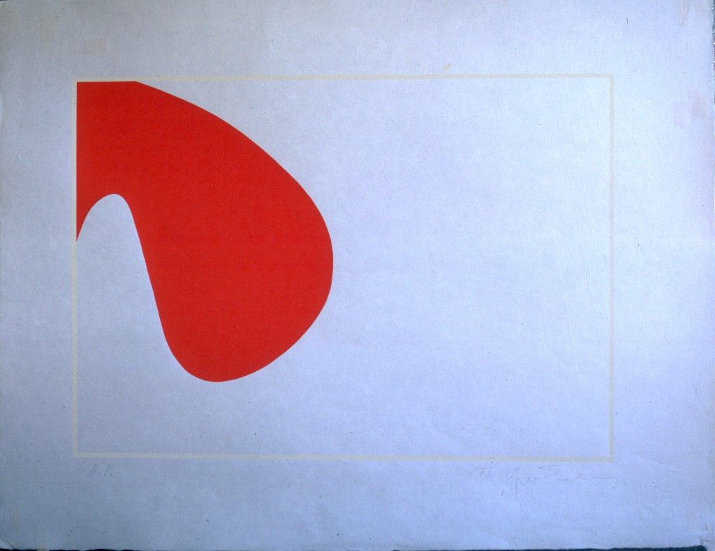 "Silkscreen Print on Japanese Rice Paper, 1970 21""x 28"", 55,5 x 72 cm courtesy Yoko Toda"