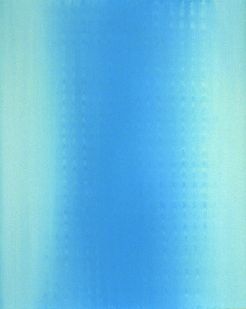 """Fluo"", 1997-2000 Oil pigment on canvas 20"" x16"", 50,8 x 40,64 cm courtesy Yoko Toda"