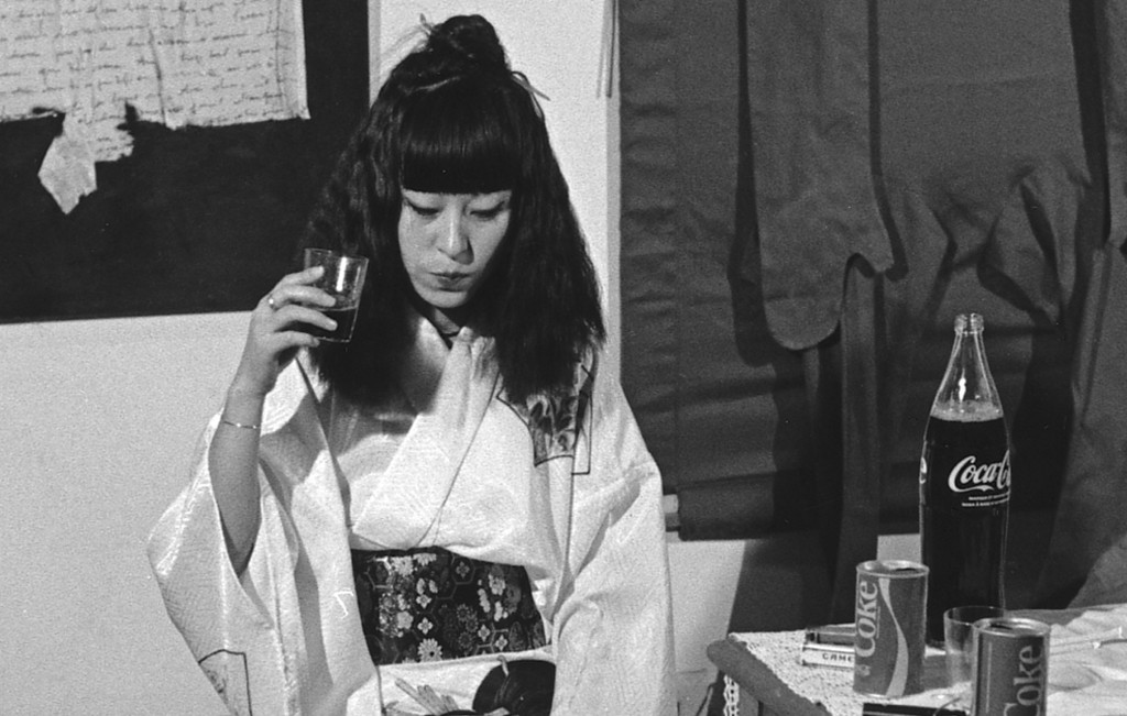 Yoko Toda's performance at Musée des Arts Modernes de la Ville de Paris, 1975 courtesy Yoko Toda