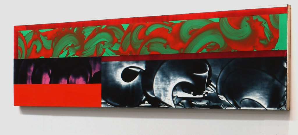 David Reed, #236 (Jerome's Dilemma/Dream) 1986 Oil and alkyd on linen 66 x 259 cm