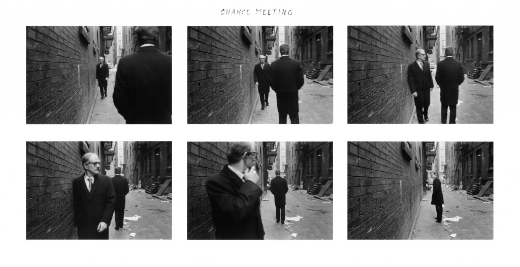Chance Meeting - 1970 © Duane Michals Copyright Duane Michals. Courtesy Admira, Milan / Galerie Clara Maria Sels, Duesseldorf