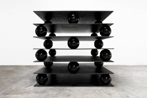 Zhang Ding, Black Substance, courtesy: the artist and Shanghart Gallery